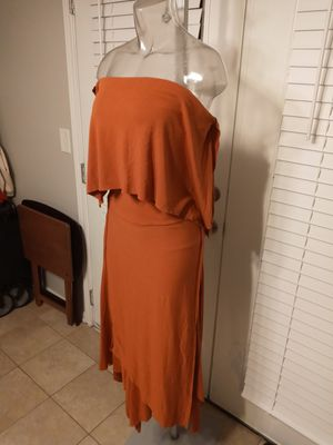 Custom made dark orange halter dress for Sale in Decatur, GA