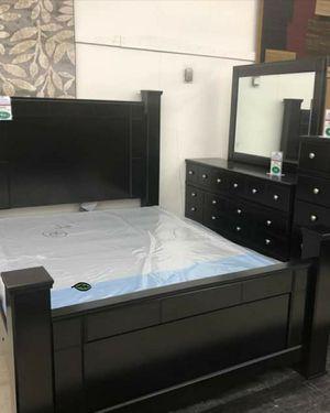 💲39 Down Payment 🍃Best Deal SPECIAL] Shay Black Poster Bedroom Set for Sale in Laurel, MD