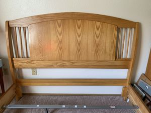 Queen size oak bed frame for Sale in Lacey, WA