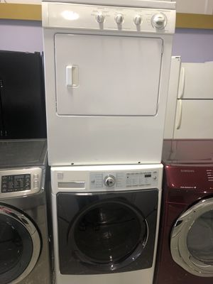 Kenmore front load washer stackable and dryer electric with warranty for Sale in Woodbridge, VA