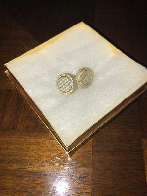 Diamond circle earrings for Sale in Tampa, FL