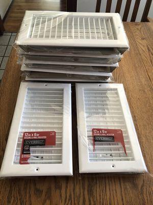 7 new 12in x 6 in ceiling & wall regis . for Sale in Gardena, CA