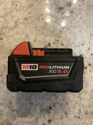 Milwaukee battery XC 5Ah for Sale in Norridge, IL