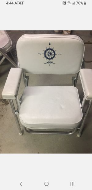 2 boat deck chairs for Sale in Erie, PA