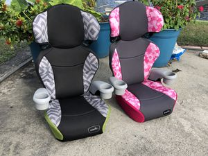 Set of 2 Evenflo Booster Car Seat 40-100lbs for Sale in West Palm Beach, FL