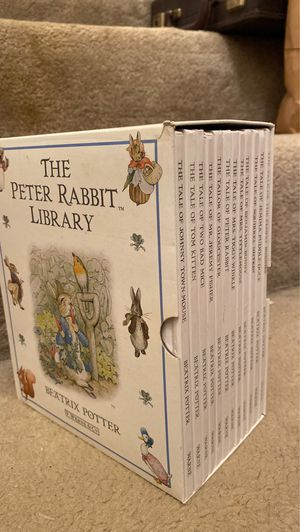 The Peter Rabbit library, 12 books by Beatrix Potter for Sale in San Antonio, TX