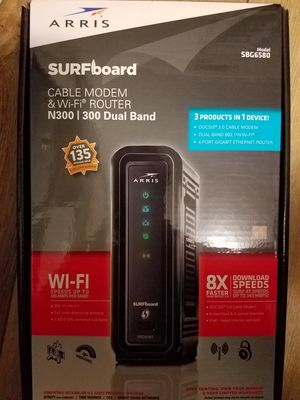 Cable Modem & WiFi Router. Arris Surfboard N300 for Sale in Kansas City, MO