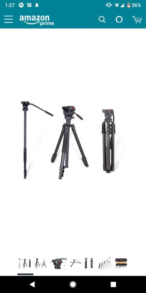 COMAN KX3939 Video Tripod with 360 Fluid Head for Camcorder and DSLR Camera 70.8 inches for Sale in Sacramento, CA