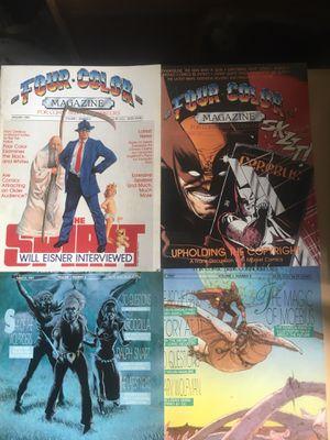 Four Color Magazine for Comic Book Connoisseurs #2-5 for Sale in El Monte, CA
