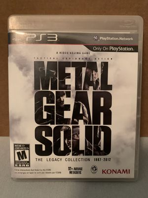 Metal Gear Solid Legacy Collection PS3 for Sale in Mesa, AZ