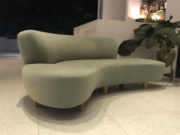 Modernica Cloud Medium Velvet Sofa For In Los Angeles