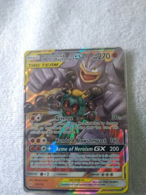 Machamp and marshadow Gx tagteam for Sale in Miami, FL