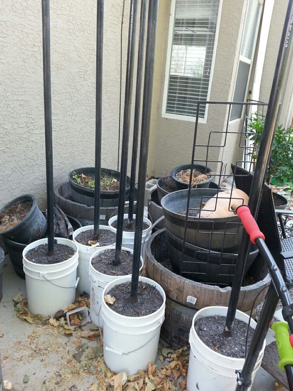 Free Concrete Filled Buckets With 1 Quot Pipe For Sale In
