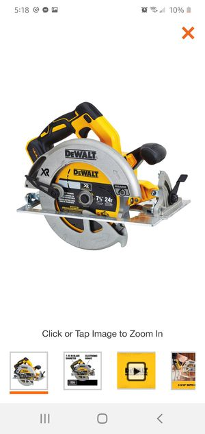 DEWALT 20-Volt MAX XR Lithium-Ion Cordless Brushless 7-1/4 in. Circular Saw with Brake (Tool-Only) for Sale in Dumfries, VA