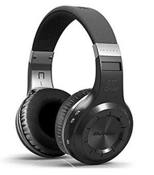 Bluedio H-Turbine Wireless 4.1 Headphones Powerful Bass Over-ear Headset Bulit-in Microphone-Retail package Global release (Black) for Sale in Houston, TX