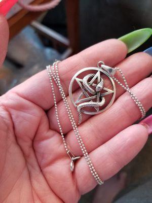 Sterling silver snake pentagram for Sale in Altoona, IA