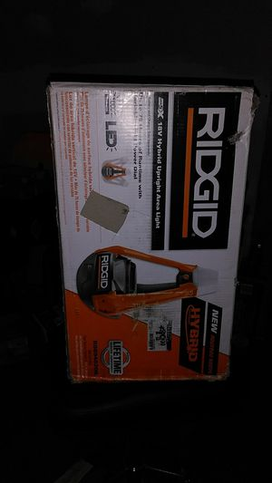 Ridgid 18-Volt Hybrid Upright Area Light (Tool Only)Bnib $60 for Sale in Gladwyne, PA