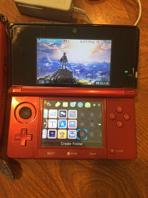 Original Nintendo 3DS system modded with 2GB SD, case, and charger for Sale in Fort Washington, MD