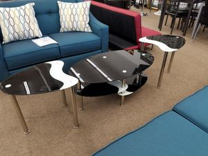 3-piece glass material coffee table sets for Sale in Beltsville, MD