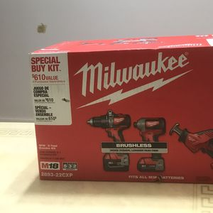 Milwaukee M18 Impact &hammer Drill Compo Kit for Sale in Tacoma, WA
