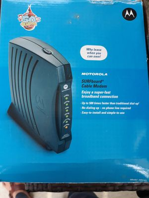 Motorola cable modem. for Sale in Melrose Park, IL