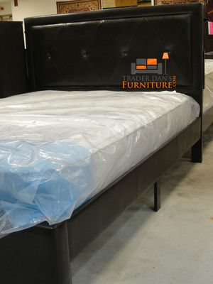 Brand New Queen Size Leather Platform Bed + Mattress for Sale in Arlington, VA