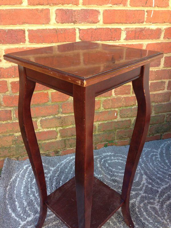 End table side table coffee table brown wood