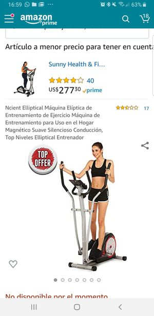 Magnetic smooth elliptical machine for Sale in Miami, FL