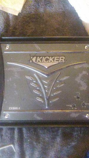Kicker zx 500.1 amplifier for Sale in Fresno, CA