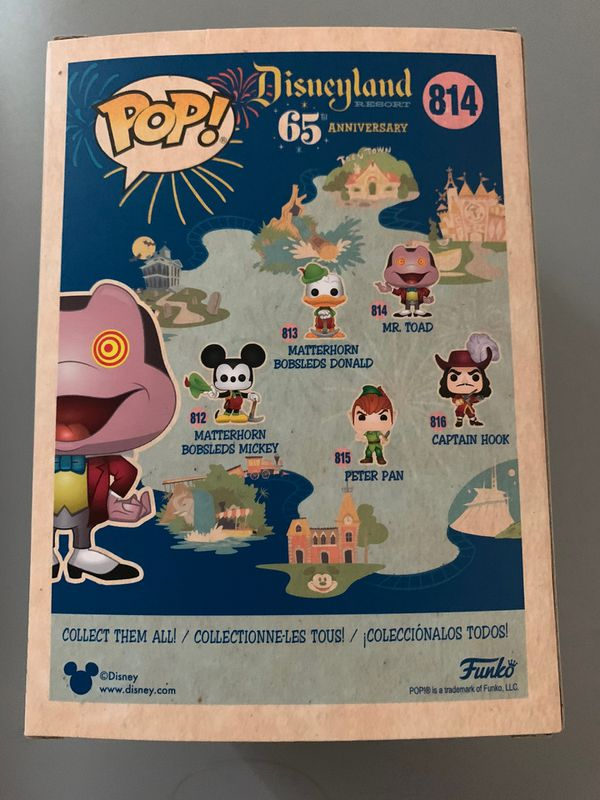 Funko Pop Disney 65th Anniversary Mr Toad 814