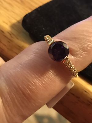 BRAND NEW 1.2CTW PURPLE CZ LADIES RING SIZE 9 for Sale in Seaford, DE