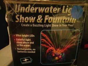Underwater light show and fountain for pools spa etc for Sale in Fresno, CA