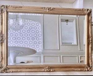 Beautiful Antique French Carved Wooden Gold brass Mirror for Sale in West Hollywood, CA