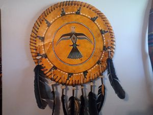 Very old Native American Indian complete set the axe the bow and arrow the sphere the Dreamcatcher for Sale in Frankfort, KY
