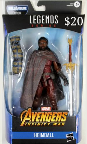 Marvel Legends Heimdall Collectible Action Figure Toy with Bro Thor Build a Figure Piece for Sale in Chicago, IL