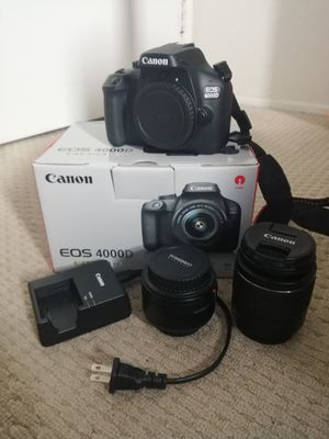 Canon 4000d with 2 lenses and all original accessories for Sale in San Diego, CA