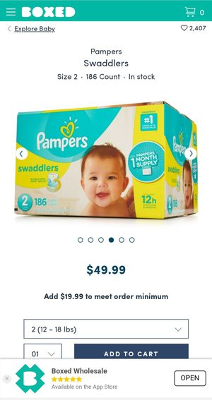Pampers swaddlers diapers for Sale in Joliet, IL