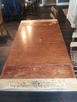 Antique Holland 1900s farmtable. Chairs for Sale in Snohomish, WA