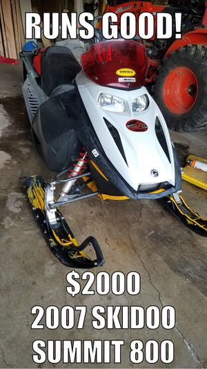 2007 Skidoo Summit 800 Snowmobile for Sale in Yacolt, WA