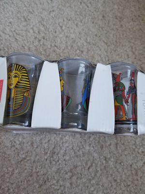 Shot or coffee glasses Egyptian Pharaoh new for Sale in Austin, TX