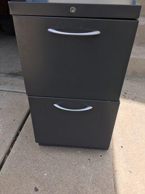 File Cabinet (Gray). Wheels/Key for Sale in Littleton, CO