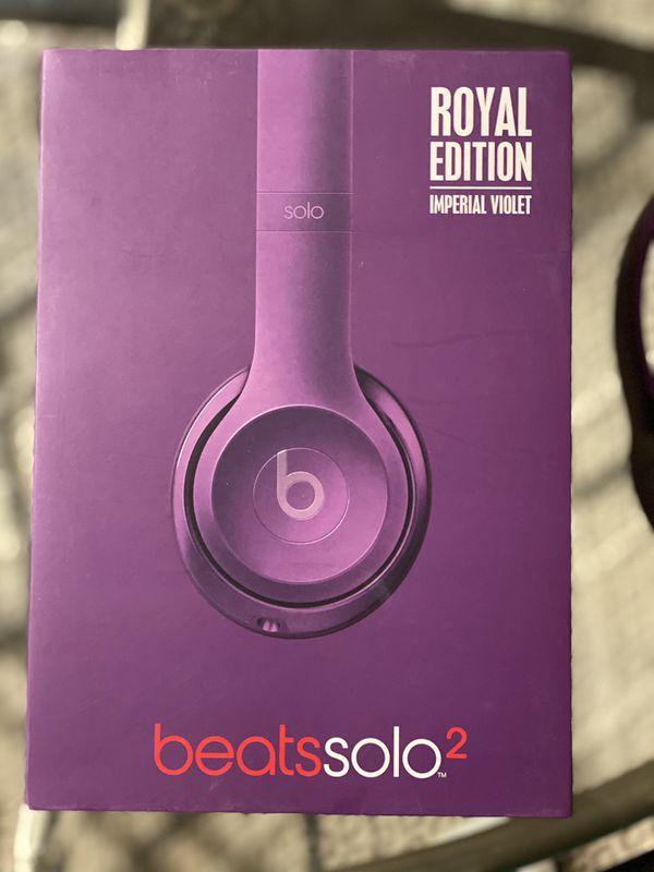 Beats solo2 wired headphones (purple)
