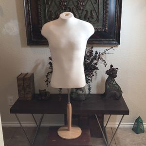 Male form mannequin on adjustable WOODEN stand for Sale in Waco, TX