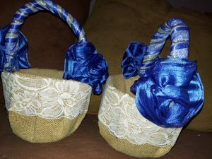 Flower Girl Baskets Wedding Hobby Lobby Blue Silver for Sale in Mesa, AZ