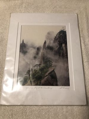 """Keith Liang autographed photo """"Spring fog over Mt San Quing"""" for Sale in Livermore, CA"""