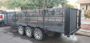 """Triple axle trailer 7'6"""" x 19' x 3'6"""" for Sale in Las Vegas, NV"""