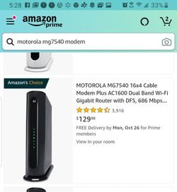 Motorola cable modem and router for Sale in Upland,  CA