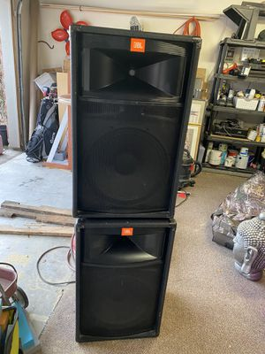 JBL TR 125 Speakers and Yamaha SX250 Amp for Sale in Lewisville, TX