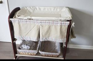 Bassinet and changing table for Sale in Newark, NJ