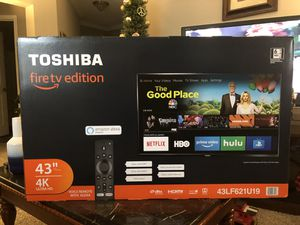 """TOSHIBA 43"""" Fire tv edition SMART 4K ULTRA HD with/voice remote with ALEXA $350 for Sale in Montgomery Village, MD"""